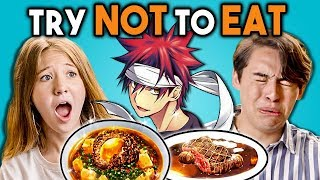 TRY NOT TO EAT CHALLENGE! - Anime Food | Teens & College Kids Vs. Food
