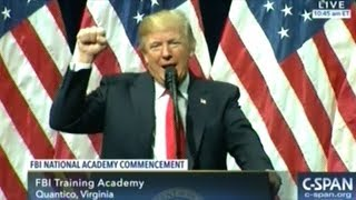 """""""You Are Great People"""" President Trump At FBI National Academy Graduation Ceremony"""