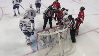McElhinney makes great stop in debut for Maple Leafs