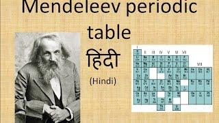 mendeleev periodic table in hindi - Periodic Table Hindi