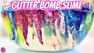 GLITTER BOMB CLEAR SLIME!  GORGEOUS GLITTER SLIME!