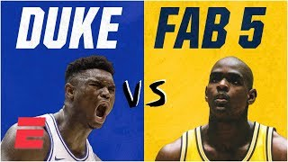Duke freshmen vs. Fab Five: How Zion Williamson