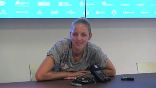 Kristýna Plíšková po postupu do finále J&T Banka Prague Open 2017