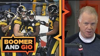 Pittsburgh Steelers SCORE 52 points    Boomer and Gio