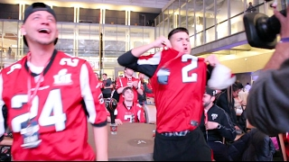 ATLANTA FALCONS FANS REACT DURING SUPER BOWL LI IN DOWNTOWN  ATLANTA (THE THRILL AND THE AGONY)