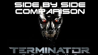 Terminator Genisys vs Terminator 1 | T800 Arrival Side-By-Side