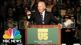 Joe Biden To College Men: 'A Woman Who's Dead Drunk Cannot Consent. You Are Raping Her' | NBC News