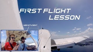First Ever Flight Lesson| New Student Pilot