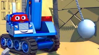 Dane Der Abbruchkran - Carl der Super Truck in Car City 🚚 ⍟ l Auto und Lastwagen Bau Cartoons