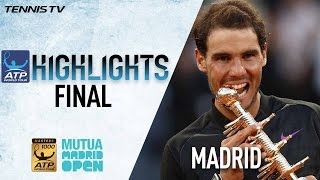 Highlights: Nadal Beats Thiem For Fifth Madrid Title 2017