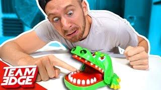 Crocodile Finger CHOMPER Game!!