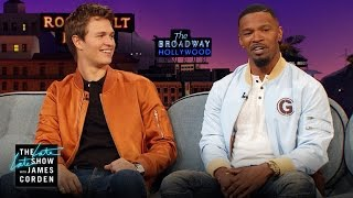 Jamie Foxx & Ansel Elgort Have Some Fashion Fails