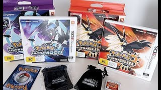 Unboxing Pokemon Ultra Sun & Ultra Moon Collectors Editions