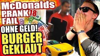 McDonalds PRANK FAIL - OHNE BEZAHLEN BURGER GEKLAUT im Ferrari - McDonalds Roulette