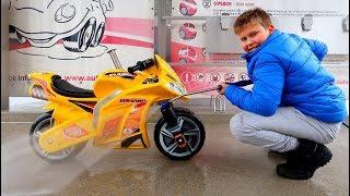 Funny Baby Washing Bike Ride on New Pocket Bike Mini Power Wheel