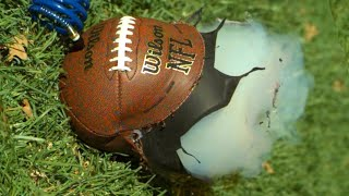 Over-inflating Footballs in Super Slow Motion - The Slow Mo Guys