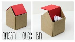 Origami Trash Bin Tutorial - DIY - Paper Kawaii