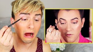 I TRIED FOLLOWING A MANNY MUA MAKEUP TUTORIAL