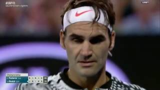 Last 5 games with commentary - Federer Nadal Australian Open 2017