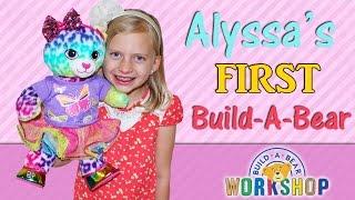 Alyssas First Build A Bear By Family Fun