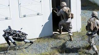 Marines testing Spot, the four-legged robot