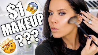 $1 MAKEUP TRY-ON HAUL! Mind Blown!!