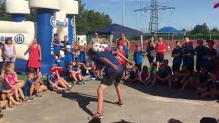 Auftritt Sven Fielitz beim Junior Soccer Camp des FC Alkofen