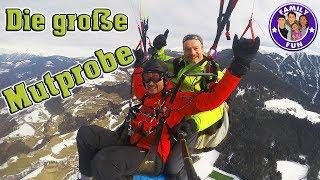 Die MUTPROBE - Gleitschirm fliegen über Brixen trotz HÖHENANGST | Family Fun