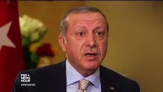 Erdogan questions why U.S. has armed Syrian Kurdish