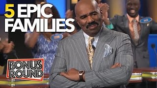 5 FUNNY, TALENTED & SCARY Families Steve Harvey Has Met On Family Feud! Bonus Round