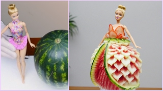 BARBIE WATERMELON DRESS By J Pereira Art Carving