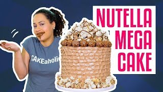 How To Make A MEGA NUTELLA CAKE | Hazelnut MERINGUE & BUTTERCREAM | Yolanda Gampp | How To Cake It