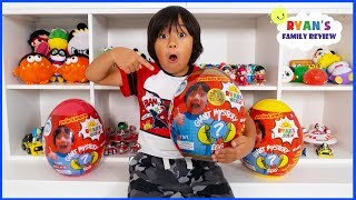 Ryan Reacts to new Toy Room with Golden Mystery Egg Surprise Toys from Walmart!!!