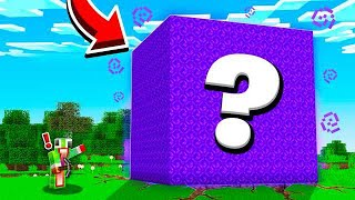 FINDING A MYSTERY MINECRAFT CUBE.. WHAT