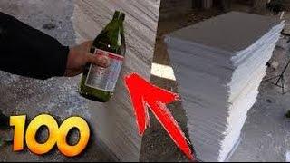 EXPERIMENT - Aceton😱 VS 100 Schichten Styropor