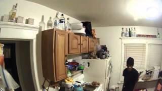 LiveLeak - Burglars Run After Alarm Wakes Up Homeowner