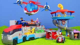 PAW PATROL deutsch: Lookout Playset, PAW & Air PATROLLER, Feuerwehrmann Marshall | PAW PATROL PUPS