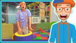 Blippi Playing at a Play Place | Learning about Colors and Muscles for Kids
