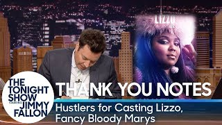 Thank You Notes: Hustlers for Casting Lizzo, Fancy Bloody Marys