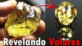 Lapidar é revelar valores, anel com pedra Greengold natural