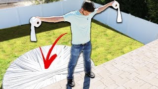 Toilet Paper Trampoline! (LEAP OF FAITH)