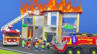 PLAYMOBIL Feuerwehrmann Film deutsch: FEUER in SCHULE auf KLO | Kinderfilm Kinderserie für Kinder