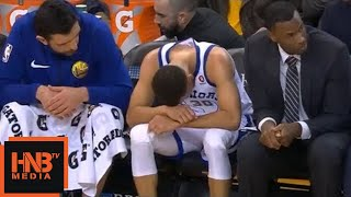 Stephen Curry left knee injury / GS Warriors vs Hawks