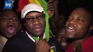 Celebration in Zimbabwe as Robert Mugabe resigns