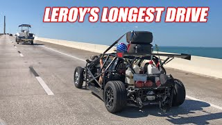 STREET DRIVING Leroy an Hour to the Dragstrip... Attempting to Race and Drive Home! +the V1 Breaks..