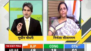 DNA: Defence minister Nirmala Sitharaman speaks exclusively to Zee News on exit polls result