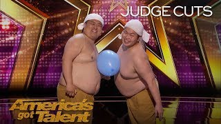 Yumbo Dump: Shirtless Duo Creates Hilarious Sounds With Bellies - America