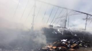 Lkw brennt nach Unfall auf A14 bei Halle