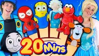 Finger Family Song - Mega Finger Family Collection! Frozen, Minions, Elmo, Nursery Rhymes & More!