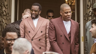 "Jay Z & Diddy ""Treated Like Kings At Roc Nation Grammy Brunch"""